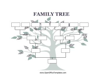 Blank family tree templates pronofoot35fo Gallery