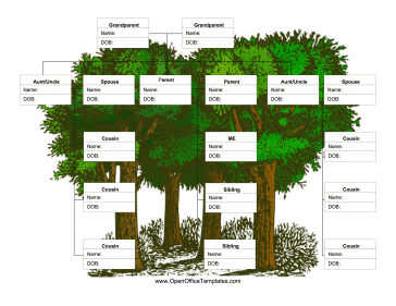 extended family tree this printable extended family tree provides ...