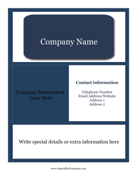 open office templates flyer